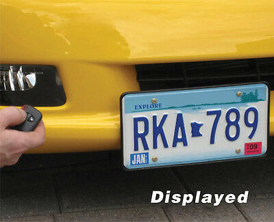 Universal Powered Retractable Front License Plate Bracket - SHOW N GO
