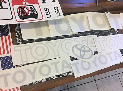 Toyota Forklift  Decal Kit detailed with safety decals  ( Light  GRAY)