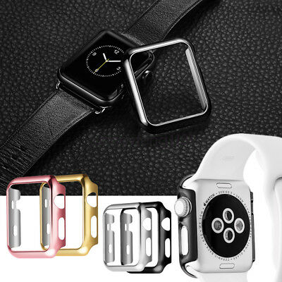 For Apple Watch Series 4 3 2 Case Luxury PC Plated Cover 40mm 44mm 42mm 38mm