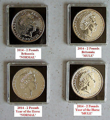 4 - 2014 Silver (.9990) 2 Pounds (Britannia & Year of the Horse - NORMAL/MULE)