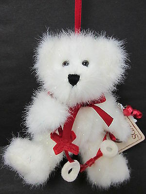 "Boyd's #82054 ""H. K. Bearlove"" Plush Message Bear Ornament PRISTINE New - Mint"