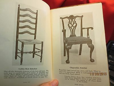 SIGNED ORIGINAL BAIRS CABINET SHOP Furniture Catalog Antique ABBOTTSTOWN PA