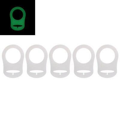5Pcs Luminous Silicone Baby Dummy Pacifier Holder Clip Adapter for MAM Rings