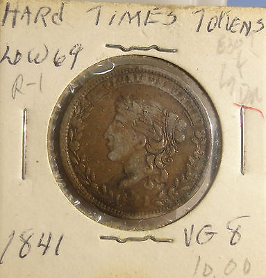 """Hard Times Token 1827-1835 """"millions For Defence, Not One Cent For Tribute"""""""