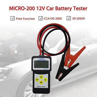 MICRO-200 12V Car Battery Load Tester/Battery Analyzer Diagnostic tool Portable
