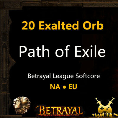 20 x Exalted Orb - Path of Exile PoE Currency Incursion League Softcore SC EU/NA