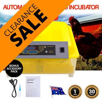 New 2017 48 & 32 Egg Incubators Fully Automatic Digital Poultry Birds Viewing