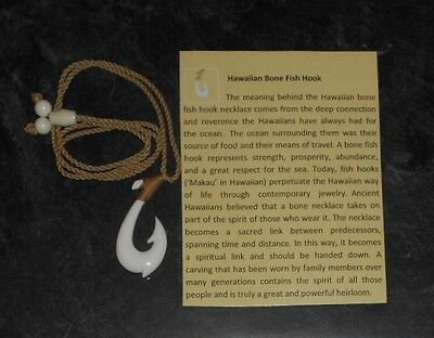 Hawaiian Bone Fish Hook Necklace - Maui's Hook