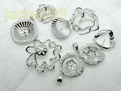 beautiful 925 Sterling Silver DIY  Pendant tray collection(8 slices)