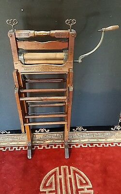 Antique May 1896 Anchor Brand Folding Bench Double Rack Clothes Wringer No. 781B