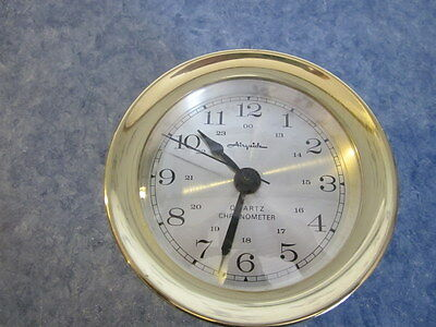 Vintage Brass Working Airguide Quartz Chronometer Made In West Germany