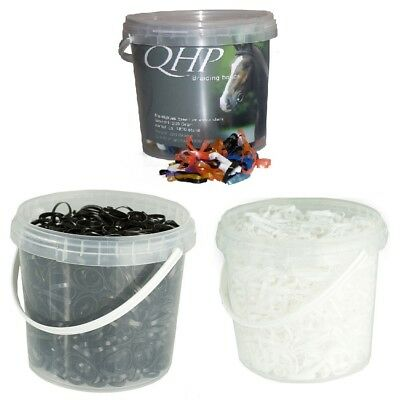 Bucket Silicone Mane Rubbers ca 1800 Stk in a tear-resistant various Colours