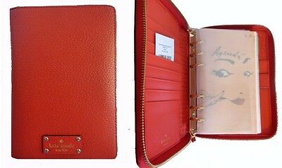 Kate Spade Wellesley Cherry Red Leather 2017 Personal Planner Calender,Organizer