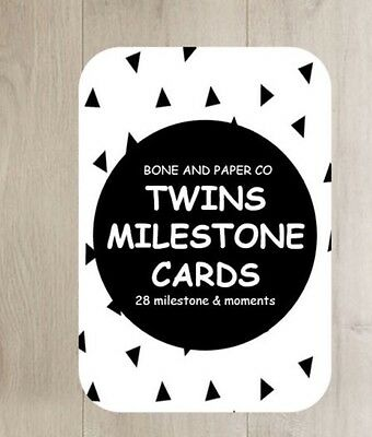 TWINS - Baby Milestone and Moment Cards -BRAND NEW - Pack of 28 - Only $14.95