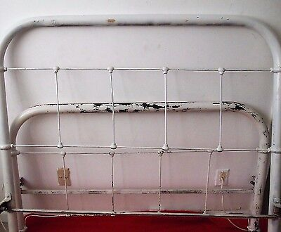 Vintage Iron Metal Bed Full Size with Original Rails