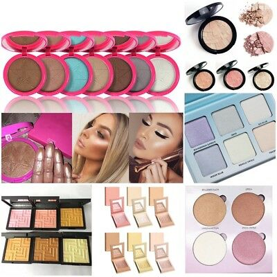 Makeup Beauty Face Star Skin Frost Highlighter Powder Palette 8 Shades Christmas