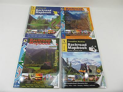 Backroad Mapbooks Kootenays Rockies Kamloops/okanagan Northern Bc 4 Set