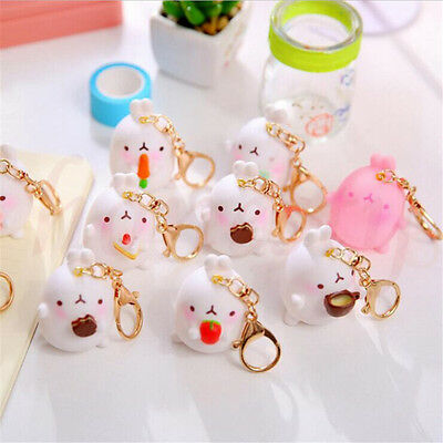 Cute Rabbit Character Molang Keyring Charm Pendant Keychain Bag Key Ring Chain