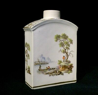 Zurich tea canister, finely painted hunt scene, c.1775