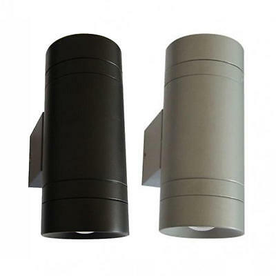 Kyo Exterior Wall Light Up/Down 2 x 3W IP65 4000K Telbix KYO EX2-BK, KYO EX2-SL