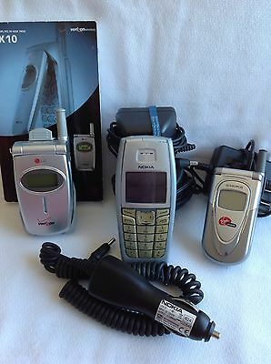Cell Phone Lot Of 3 For Parts Or Repair Nokia Audiovox LG Verizon With Extras