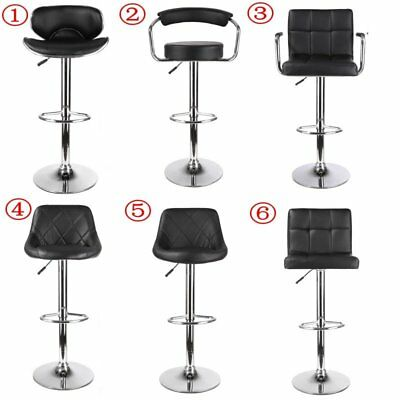 Set of 2 Bar Stools Footrest Kitchen Pub Barstool Breakfast Bar Chair Stool UK