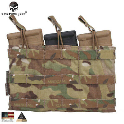 Emerson Magazine Mag Pouch 5.56 Triple Open Top Tactical Pouch MC CB CP EM6356