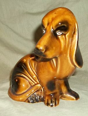 "Vintage Adorable Porcelain Basset Hound Dog Figurine Made in Brazil 6"" tall and"