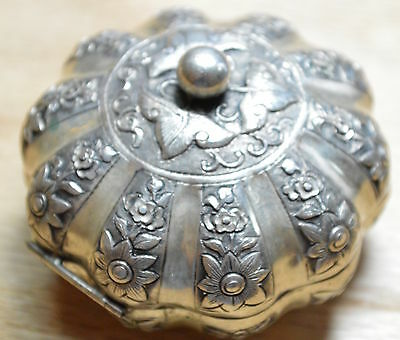 Vintage Burma Sterling Silver Jewelry Box 3844