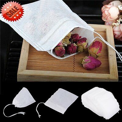 100/200 pcs Empty Teabags String Heat Seal Filter Paper Herb Loose Tea Bags gr