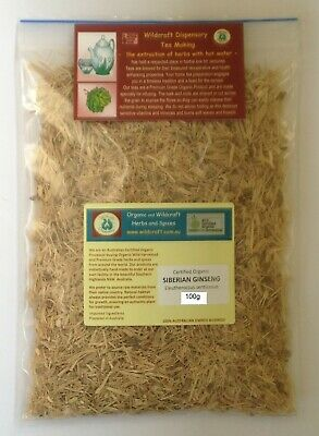 SIBERIAN GINSENG 50g Tea Certified Organic Dried Herb Eleutheroccus senticosus