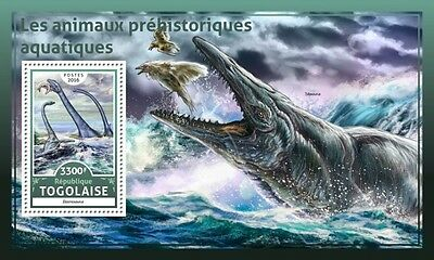 Z08 IMPERFORATED TG16616b TOGO 2016 Prehistoric water animals MNH Mint