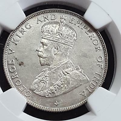 Straits Settlements 1920 Silver 50 Cents MS 63 NGC White Coin