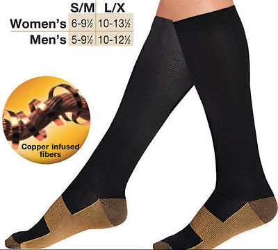 Miracle Copper Socks Anti Fatigue Compression Stocking Socks Calf Support Relief
