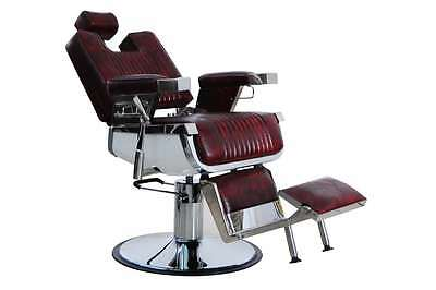 New Heavy Duty Maroon&black Barber Chair Bc-20 Uk Stock Hadi® Free Delivery 80Kg