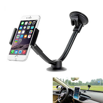 Portable Car SUV Long Arm Phone Tablet Clip 5'' 7'' Holder For iPhone Sumsang