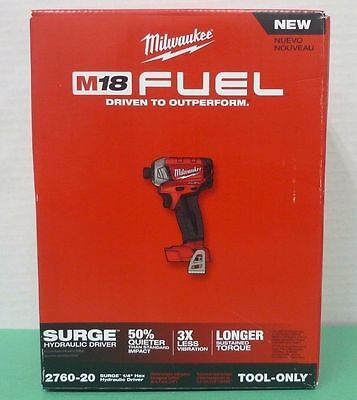 """*NEW* Milwaukee M18 FUEL SURGE 1/4"""" Hex Hydraulic Driver 2760-20 (TOOL ONLY)"""