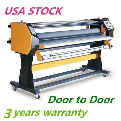 "USA 110V 67"" Stand Frame Full-auto Single Side Large Format Hot / Cold Laminator"