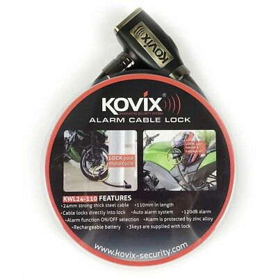 Kovix NEW Mx 1.1m Motorcycle Dirt Bike Motocross Security Alarm Cable Lock