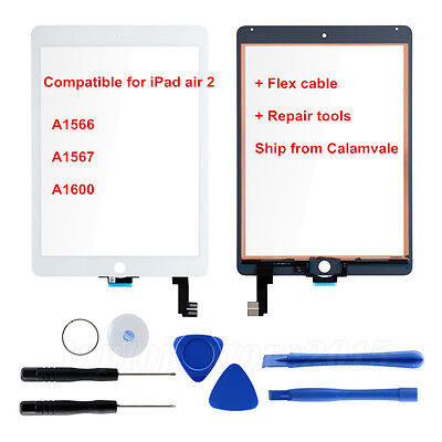 For iPad Air 2/iPad 6 Front Lens Touch Screen Glass Digitizer Replacement+Tools