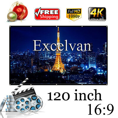 projector screen Pantalla de proyector 120/100/84/72/60'' 16:9 Plegable Portable