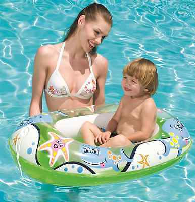 Bestway Inflatable Childs Kids Small Boat Dinghy For Pool Or Beach