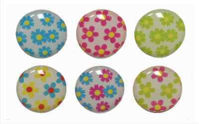 6pcs Home Button Sticker Mini Flowers Home Buttons for iPhone 5/4/3 Apple