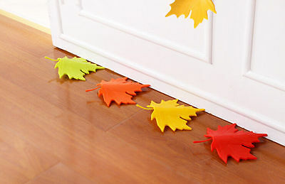 Maple  ACX Autumn Leaf Style Home Decor Finger Safety Door Stop Stopper Doorstop