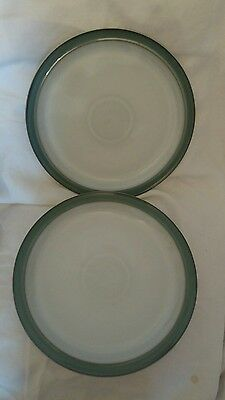 Denby Regency Green 10.25 Inches  Dinner Plates   X 2