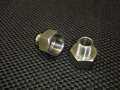 "STAINLESS STEEL ADAPTER REDUCER 1/2"" FEMALE x 3/8"" MALE NPT PIPE AR-050F-037M"