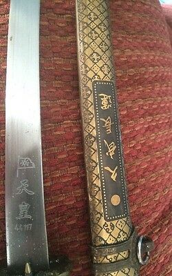 Nice decorated Samurai Dagger with  beautiful Scabbard and Nice Incised Blade