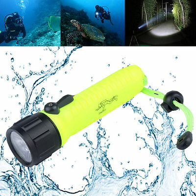 LED Torch Lantern Lighting Underwater Diving Flashlight Waterproof For Hunting