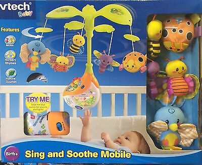 VTech Sing and Soothe Musical Baby Cot Mobile,BNIB, (G)