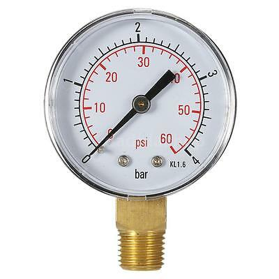 50mm 0~60psi 0~4bar Water Pressure Dial Hydraulic Pressure Gauge Manometer L9Q5